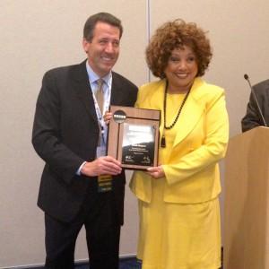 TNDA Chairman Vince Duffy and Carole Simpson