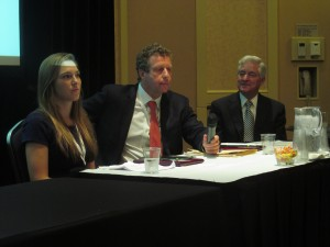 From left to right: Blake Ellis from CNNMoney, Uri Berliner from NPR and Don Dare from WATE.