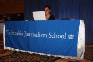 Diane Nguyen represents the Columbia Journalism School in the Expo