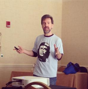 Michael Koretzky speaking on freelance journalism Photo by Rutger University, Society of Professional Journalists