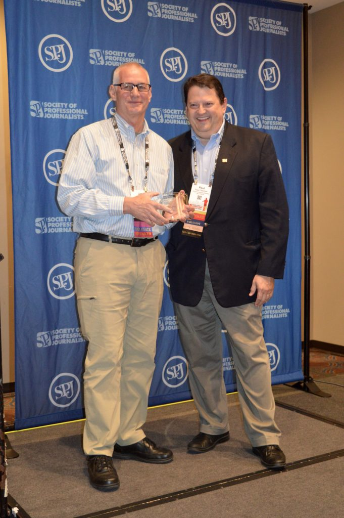 Associate Professor and Director of Undergraduate Studies at Virginia Commonwealth University was awarded the Society of Professional Journalist Distinguished Teaching in Journalism Award last night. He was awarded at this year's Excellence in Journalism conference held in New Orleans.